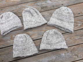 knitted hats handspun